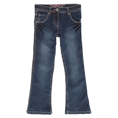 bluezoo - Girl+s dark blue bootcut jeans