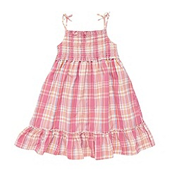 bluezoo - Girl's pink check strappy dress