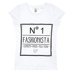 bluezoo - Girl's white 'Fashionista' t-shirt