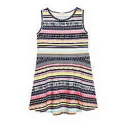 bluezoo - Girl's pink aztec print jersey dress