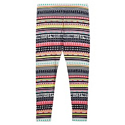 bluezoo - Girl's pink aztec print leggings