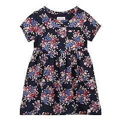 Mantaray - Girl's navy ditsy floral dress