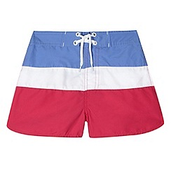 Mantaray - Girl's blue striped board shorts