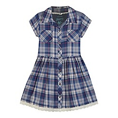 Mantaray - Girl's navy checked shirt dress