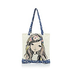 Mantaray - Girl's natural canvas shopper bag
