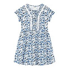 Mantaray - Girl's blue floral jersey dress