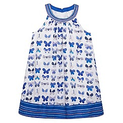 Mantaray - Girl's white butterfly print sun dress
