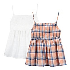 Mantaray - Pack of two girl's white strappy dresses