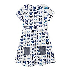 Mantaray - Girl's white butterfly print dress
