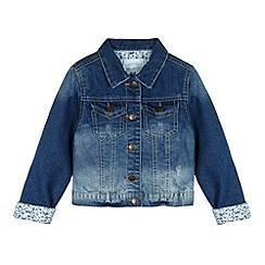 Mantaray - Girl's blue ombre denim jacket