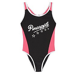 Pineapple - Girl's black 'XtraLife' swimsuit
