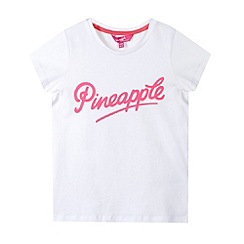 Pineapple - Girl's white logo print t-shirt