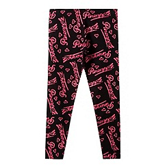 Pineapple - Girl's black logo print leggings