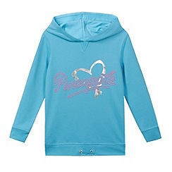 Pineapple - Girl's turquoise heart printed hoodie