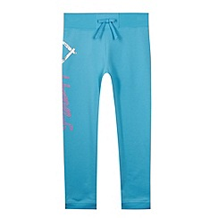 Pineapple - Girl's turquoise heart printed jogging bottoms