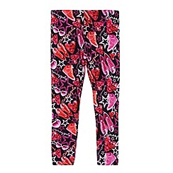 Pineapple - Girl's pink graphic accessories printed leggings