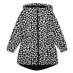 Pineapple - Girl's black heart print rain jacket
