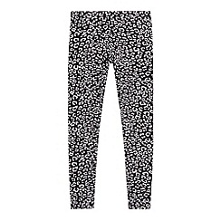 Pineapple - Girl's black leopard print leggings