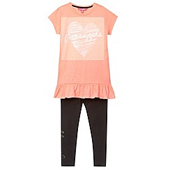 Pineapple - Girl's coral heart tunic and leggings set