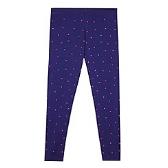 Pineapple - Girl's blue neon studded leggings