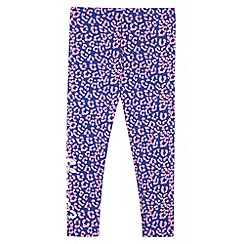 Pineapple - Girl's blue leopard print leggings
