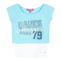 Pineapple - Girl's blue 'Dance 79' 2-in-1 crop top and vest