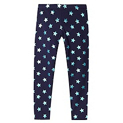 Pineapple - Girl's navy star foil leggings