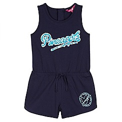 Pineapple - Girl's navy sequin logo playsuit