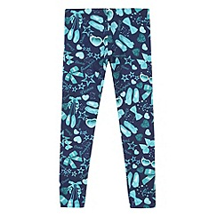 Pineapple - Girl's navy digital accessories print leggings