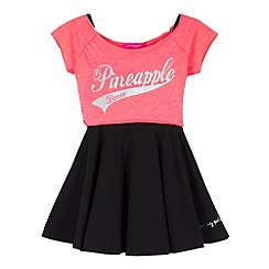Pineapple - Girl's coral 2-in-1 crop top and skater dress