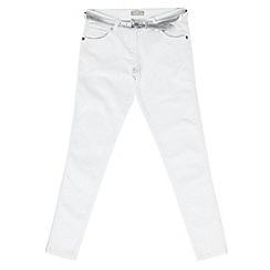 Red Herring - Girl's white belted skinny jeans