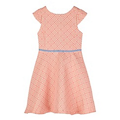 J by Jasper Conran - Designer girl's coral jacquard dress