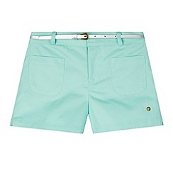 J by Jasper Conran - Designer girl's aqua twill belted shorts