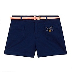 J by Jasper Conran - Designer girl's navy belted shorts
