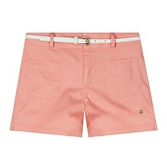 J by Jasper Conran - Designer girl's coral twill belted shorts