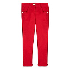 J by Jasper Conran - Designer girl's red chinos