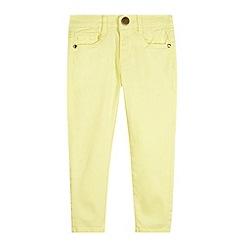 J by Jasper Conran - Designer girl's yellow skinny jeans