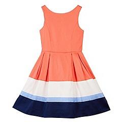 J by Jasper Conran - Designer girl's coral block panel dress