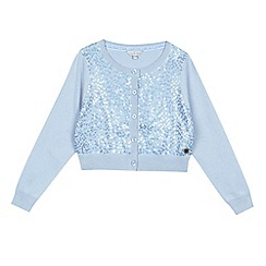 J by Jasper Conran - Designer girl's light blue sequin front cardigan