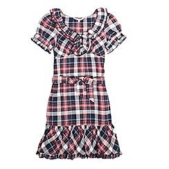 Red Herring - Girl's red check frill dress