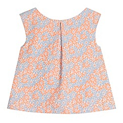 J by Jasper Conran - Designer girl coral floral jacquard top