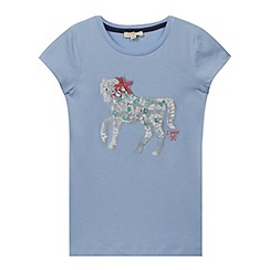 J by Jasper Conran - Designer girl's light blue sequin horse t-shirt