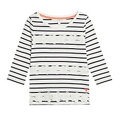 J by Jasper Conran - Designer girl's navy striped floral top