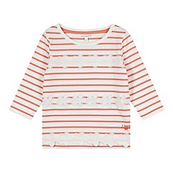 J by Jasper Conran - Designer girl's coral striped floral top