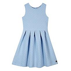 J by Jasper Conran - Designer girl's blue textured skater dress