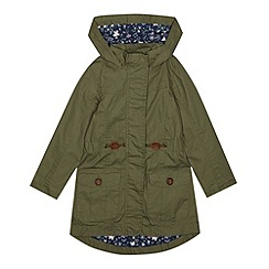 Mantaray - Girl's khaki lightweight parka jacket