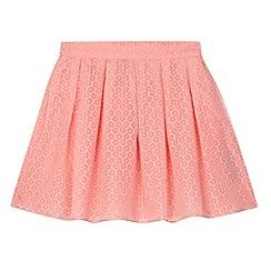 J by Jasper Conran - Designer girl's coral burnout daisies skirt
