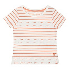 J by Jasper Conran - Designer girl's coral flower striped top