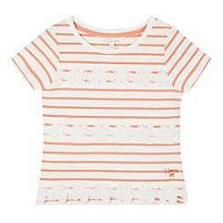 J by Jasper Conran - Designer girl's coral flower striped top
