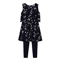 J by Jasper Conran - Designer girl's navy kite tunic set